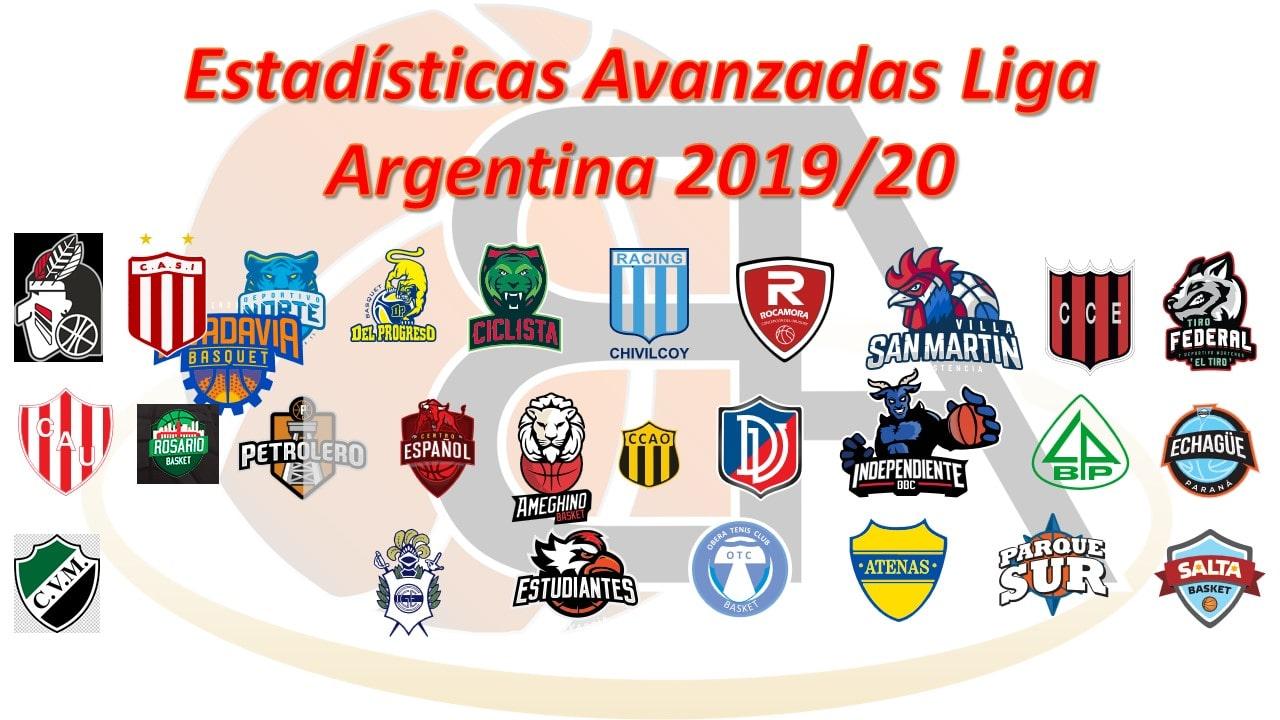 Estadísticas Avanzadas Liga Argentina 2019-20